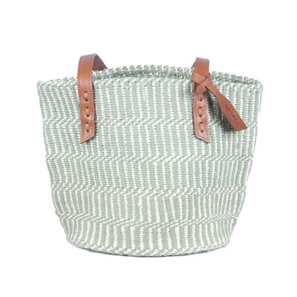 Grey & White Kenyan Sisal Bag