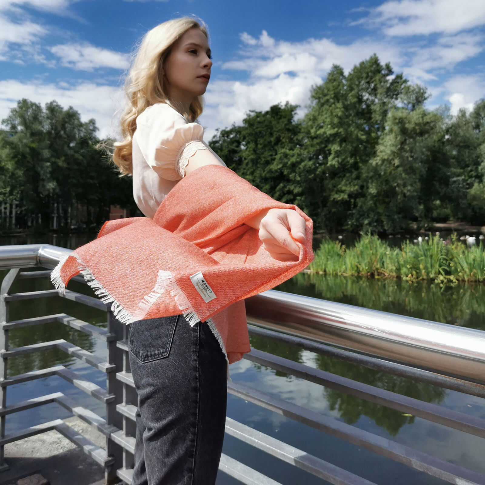 Tiger Lily Cashmere and Merino Wool Spring/Summer Scarf