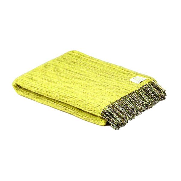 Mcnutt Pure Wool Lemon Yellow Throw