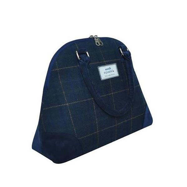 Navy Phoebe Crossbody Tweed Handbag