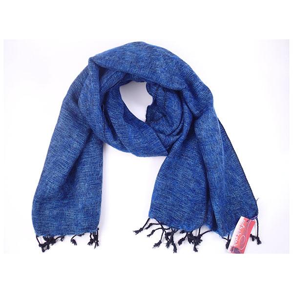 Blue Nepalese Yak Wool Shawl