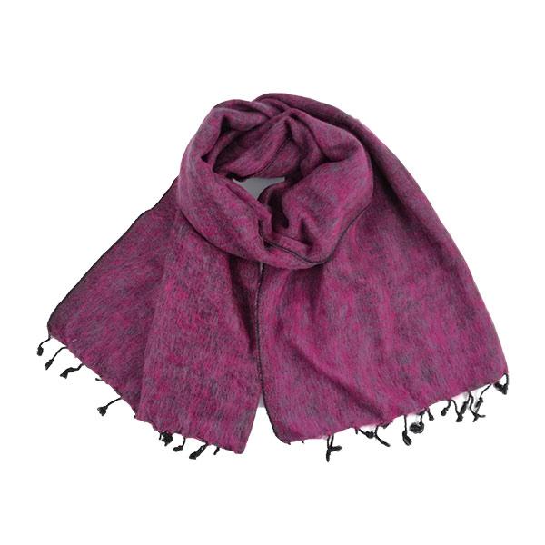 Pink Grey Nepalese Yak Wool Shawl
