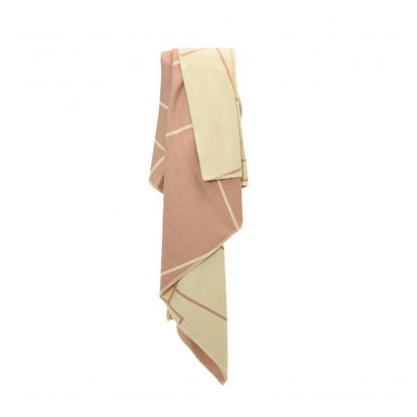 Tweedmill Herringbone Sugar Pink Organic Cotton Throw