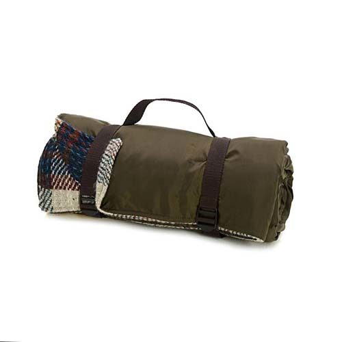 Recycled Wool Waterproof Brown Picnic Rug