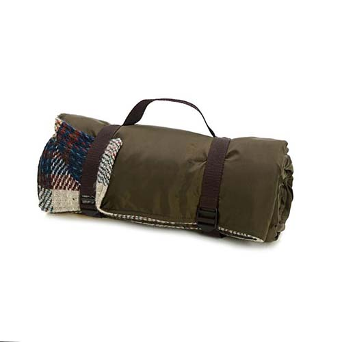Recycled Brown Picnic Rug Roll