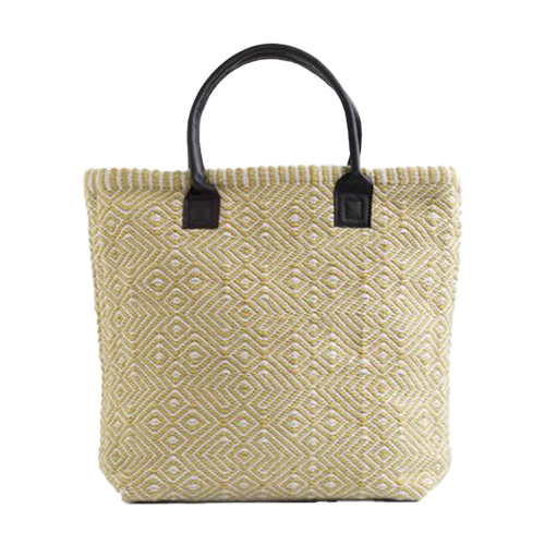 Recycled Plastic Bottle Handwoven Provence Gooseberry Tote Bag