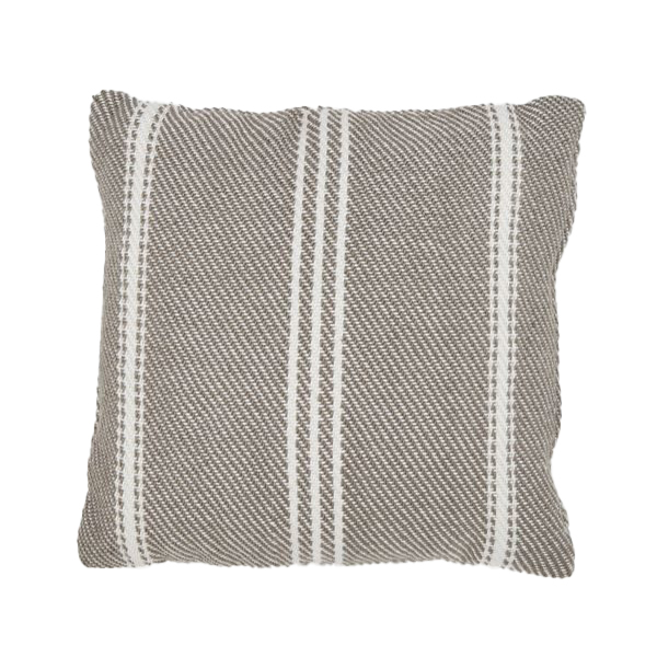 Recycled Plastic Bottle Weavergreen Brown Striped Cushion