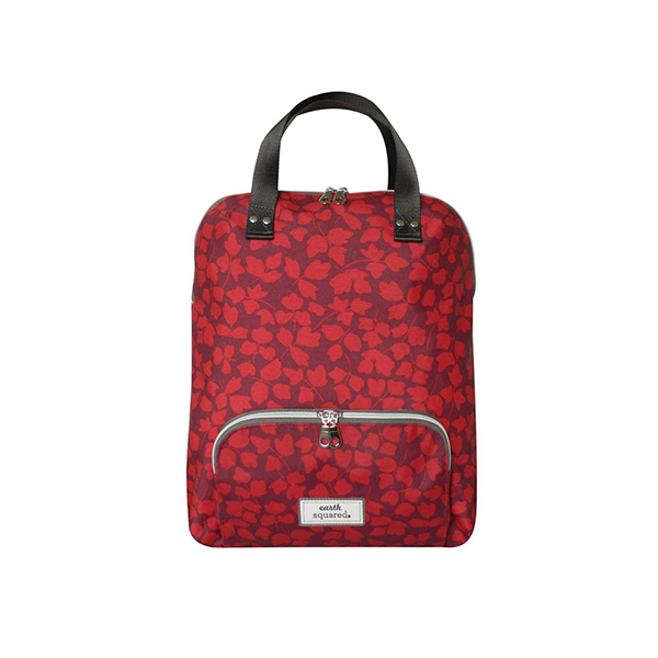 Red Floral Oilcloth Backpack
