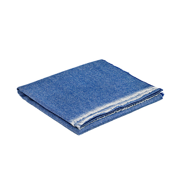 Royal Blue Cashmere and Merino Wool Lightweight Scarf