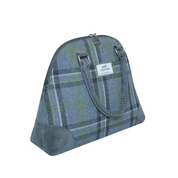 Storm Grey Phoebe Crossbody Tweed Handbag