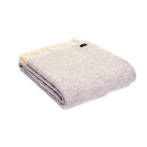 Beehive Grey Wool Throw