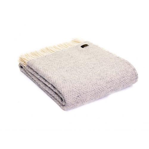 Tweedmill Beehive Grey Wool Throw Blanket