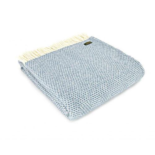 Beehive Blue Wool Throw