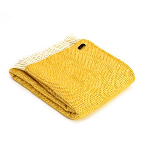 Tweedmill Beehive Yellow Pure Wool Throw