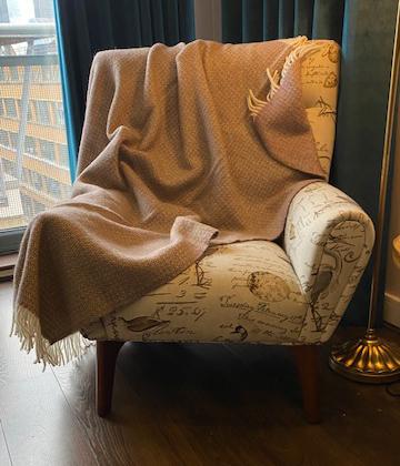 Tweedmill Illusion Raspberry Pure Wool Blanket Throw