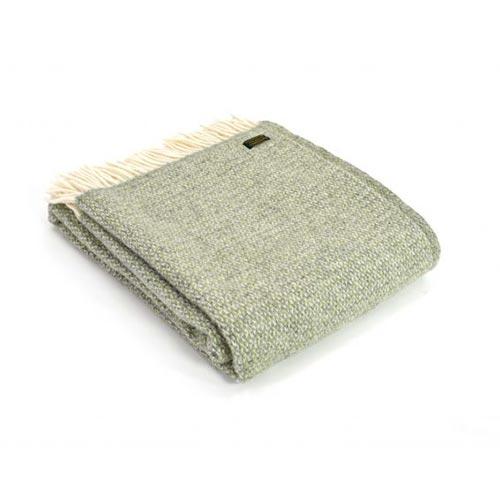 Tweedmill Illusion Grey Green Pure Wool Throw