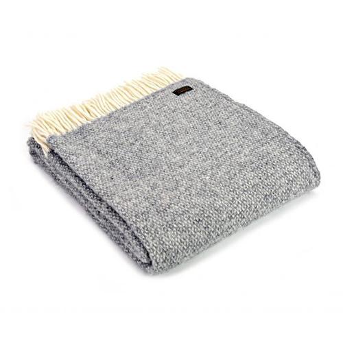 Tweedmill Illusion Grey Pure Wool Throw