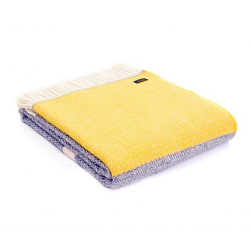 Illusion Panel Yellow Pure Wool Throw
