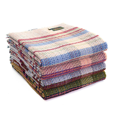 Recycled Wool Blanket Assorted Colors