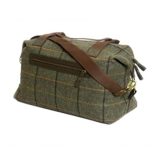 Weekender Green Wool Travel Bag