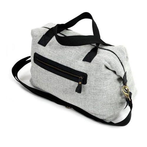 Weekender Grey Wool Travel Bag