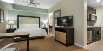 Homewood Suites Augusta Suite Room