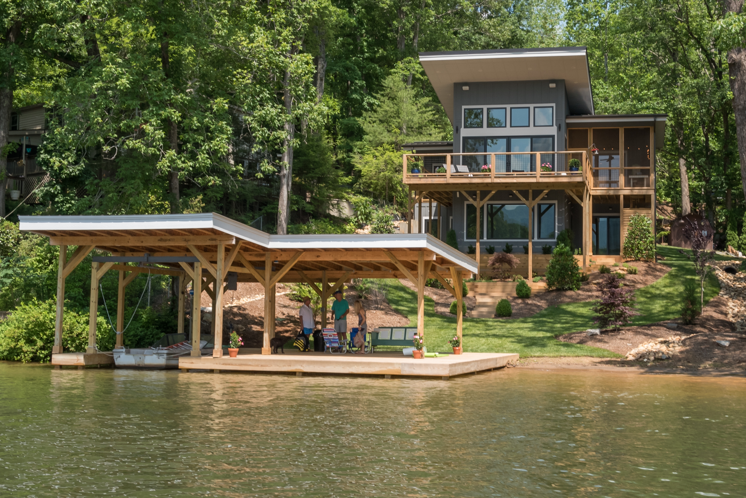 Tryon Builders Lakeshore Home view from Lake Lanier 1