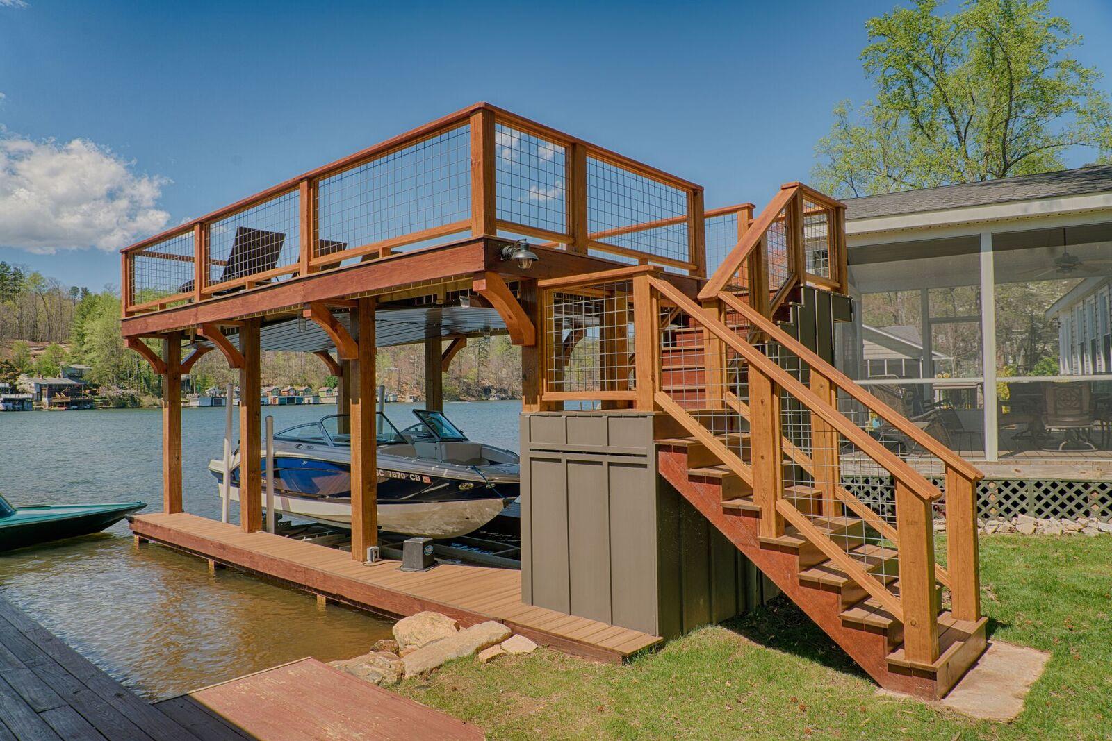 Tryon Builders custom boathouse 25