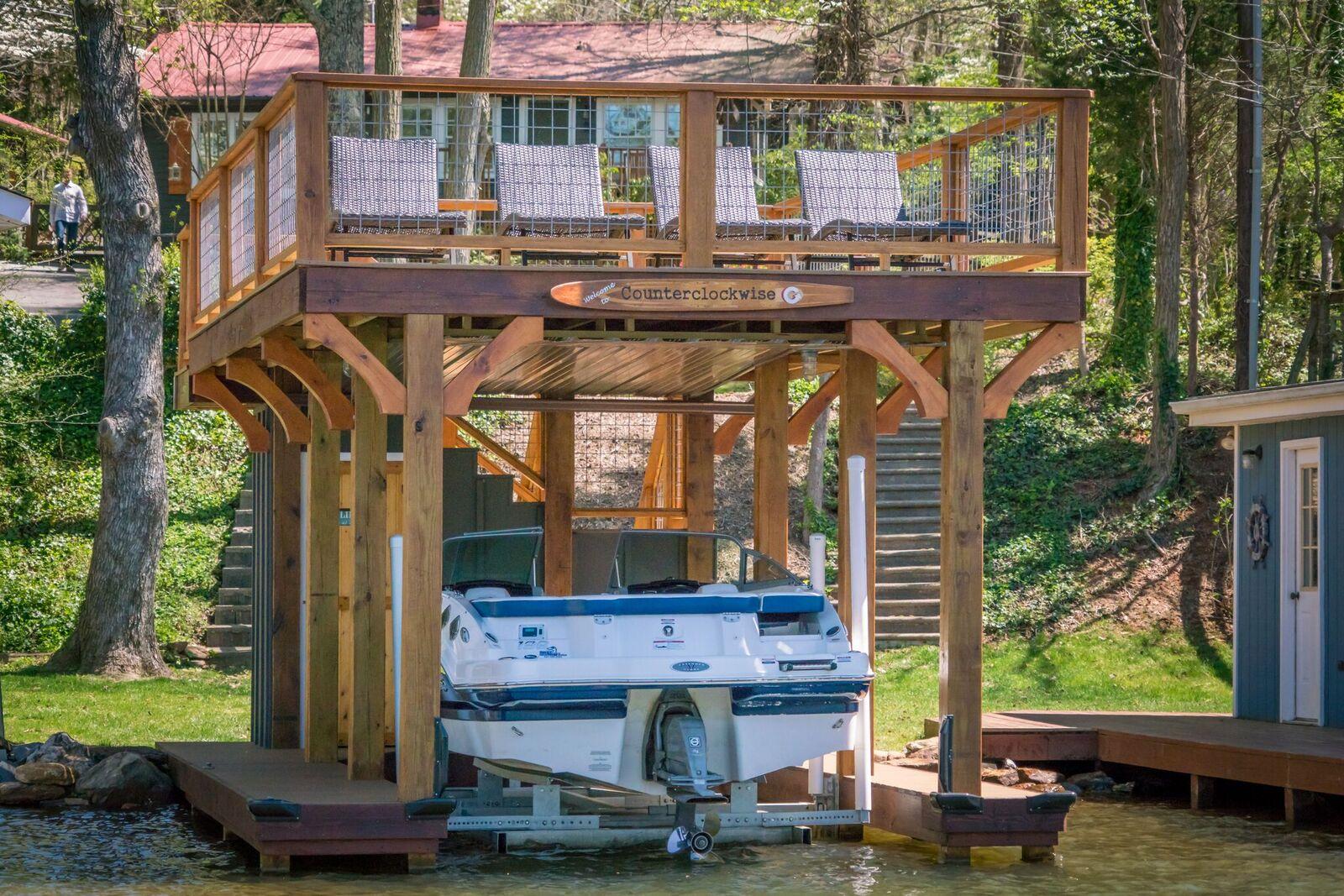 Tryon Builders custom boathouse 24