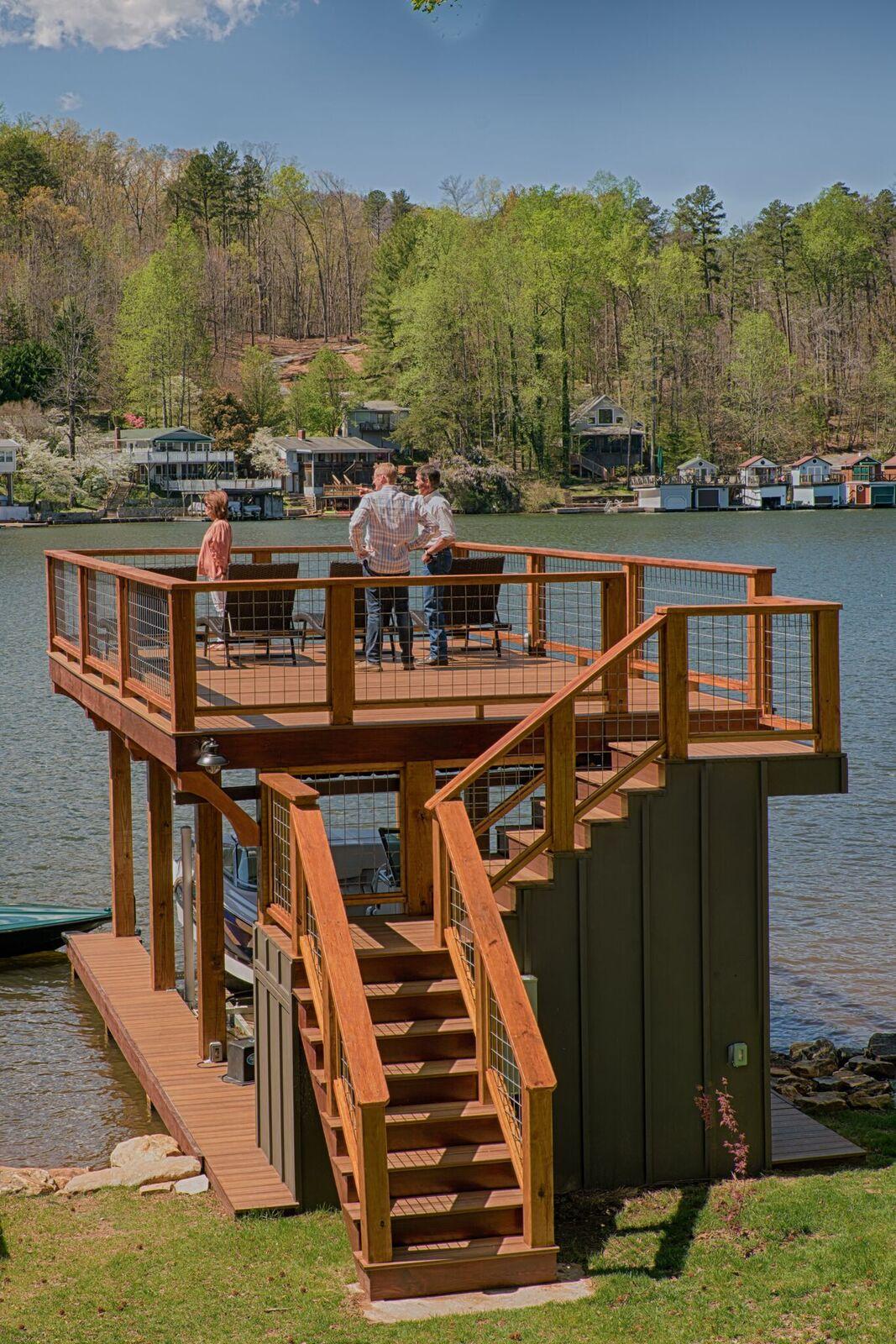 Tryon Builders custom boathouse 23
