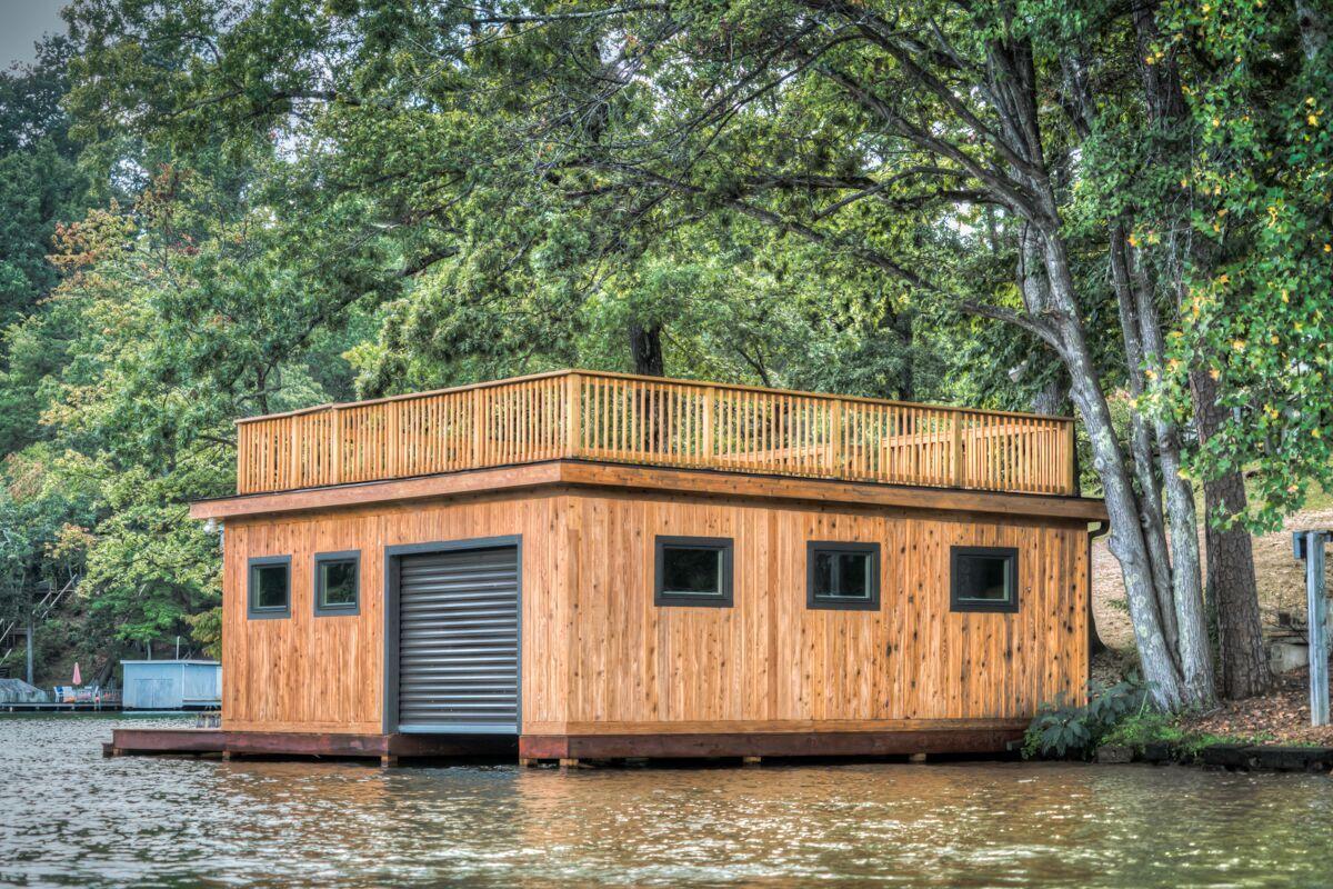 Tryon Builders custom boathouse 20