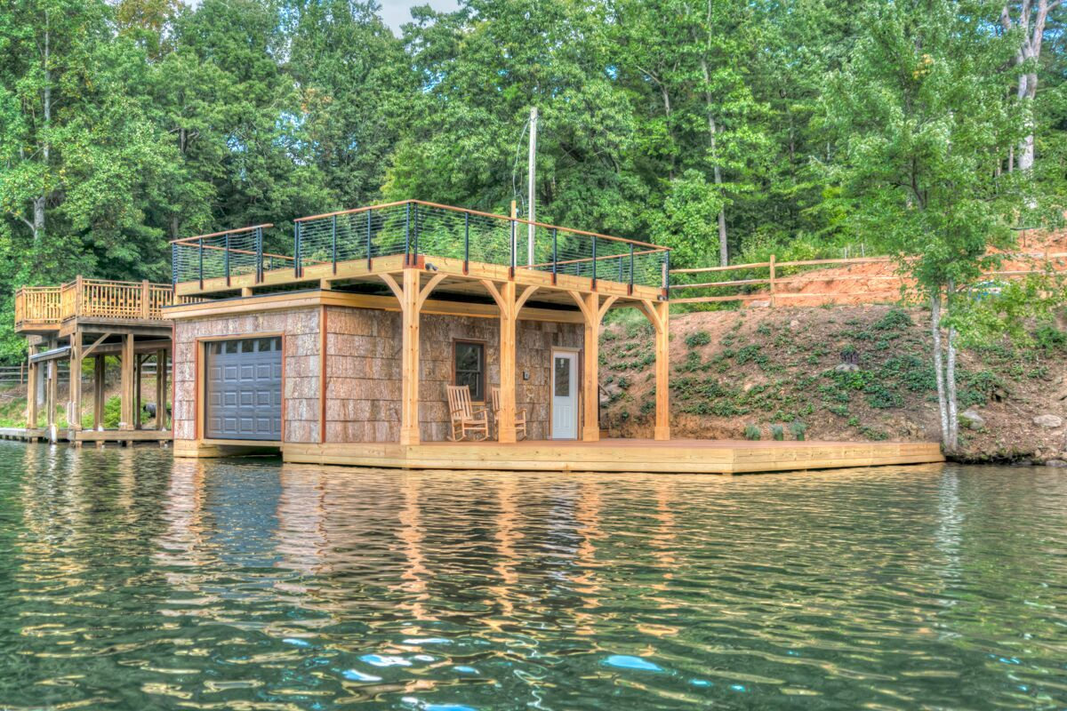 Tryon Builders custom boathouse 17