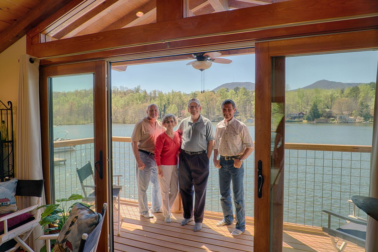 Tryon Builders custom boathouse 9 Reed McNutt with the owners