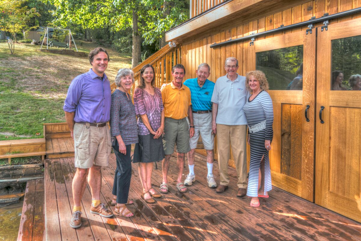 Tryon Builders custom boathouse Reed MvNutt with the owners
