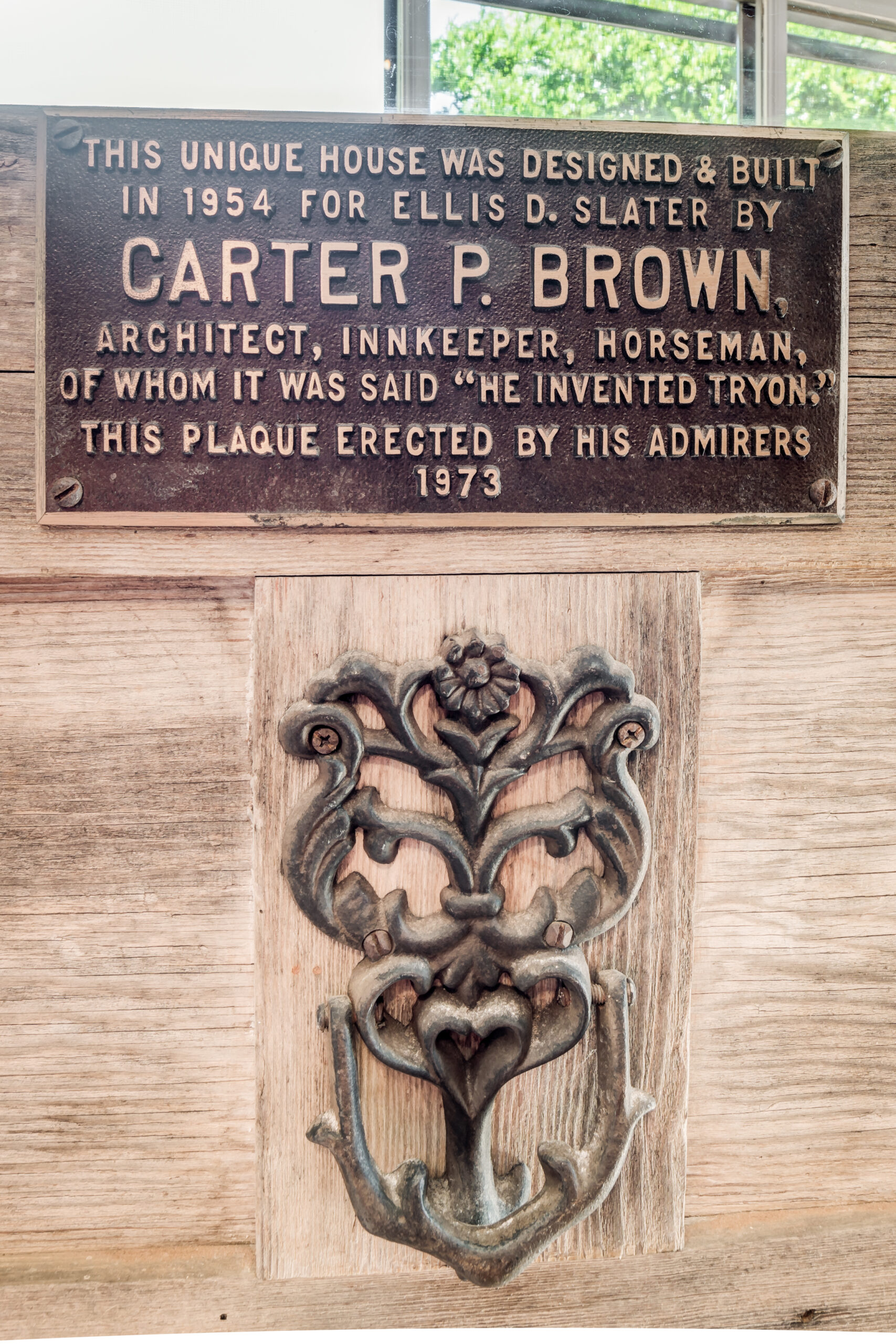 Carter Brown plaque