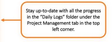 Project management pointer