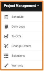 Project Management Screen shot