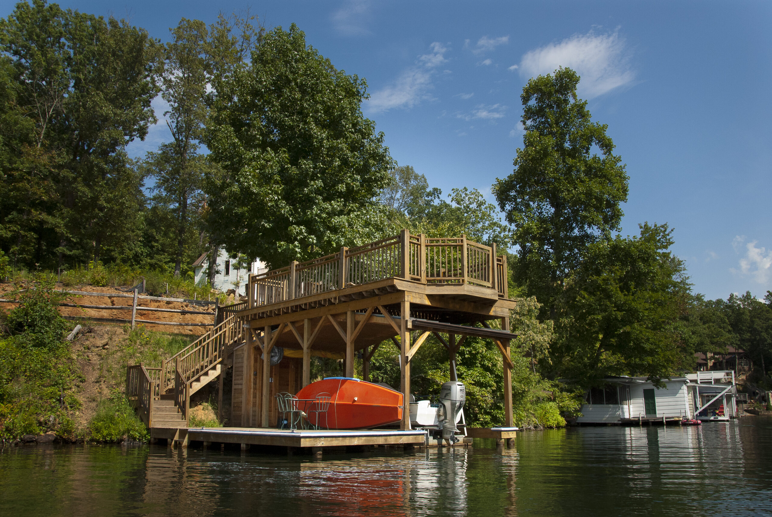 Tryon Builders custom boathouse 8