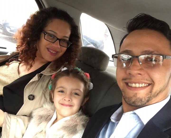 Santiago's finac? Phylisha Villanueva, his 7-year-od daughter Emarie Santiago, and Santiago