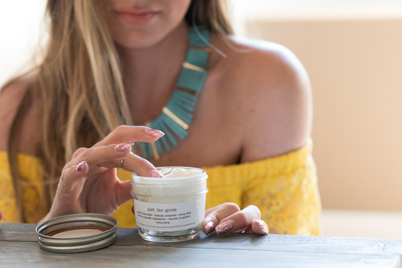 EWG Verified Just The Goods Vegan Body Butter Angela Lanter Hello Gorgeous