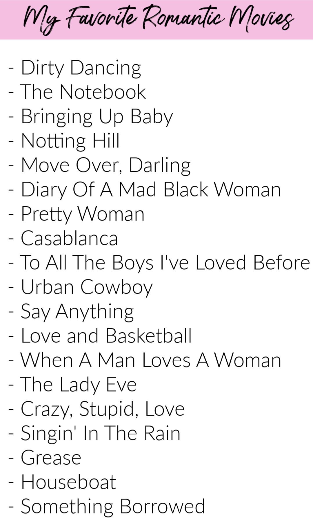 My Favorite Romantic Movies
