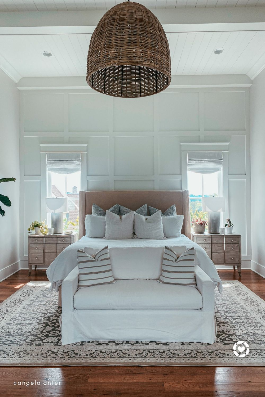 Jaipur Living Regal Oriental Gray/Silver Area Rug angela lanter Nashville master bedroom