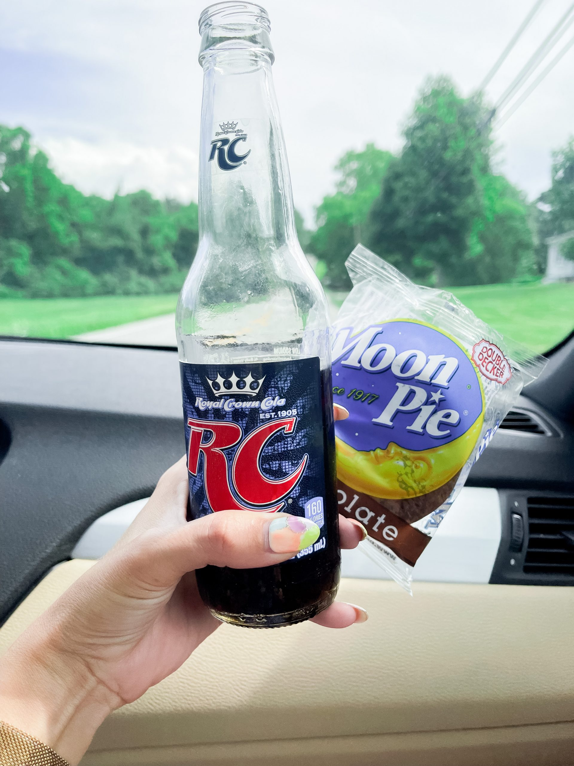 RC cola moon pie chocolate double decker Bell Buckle, Tennessee angela lanter car