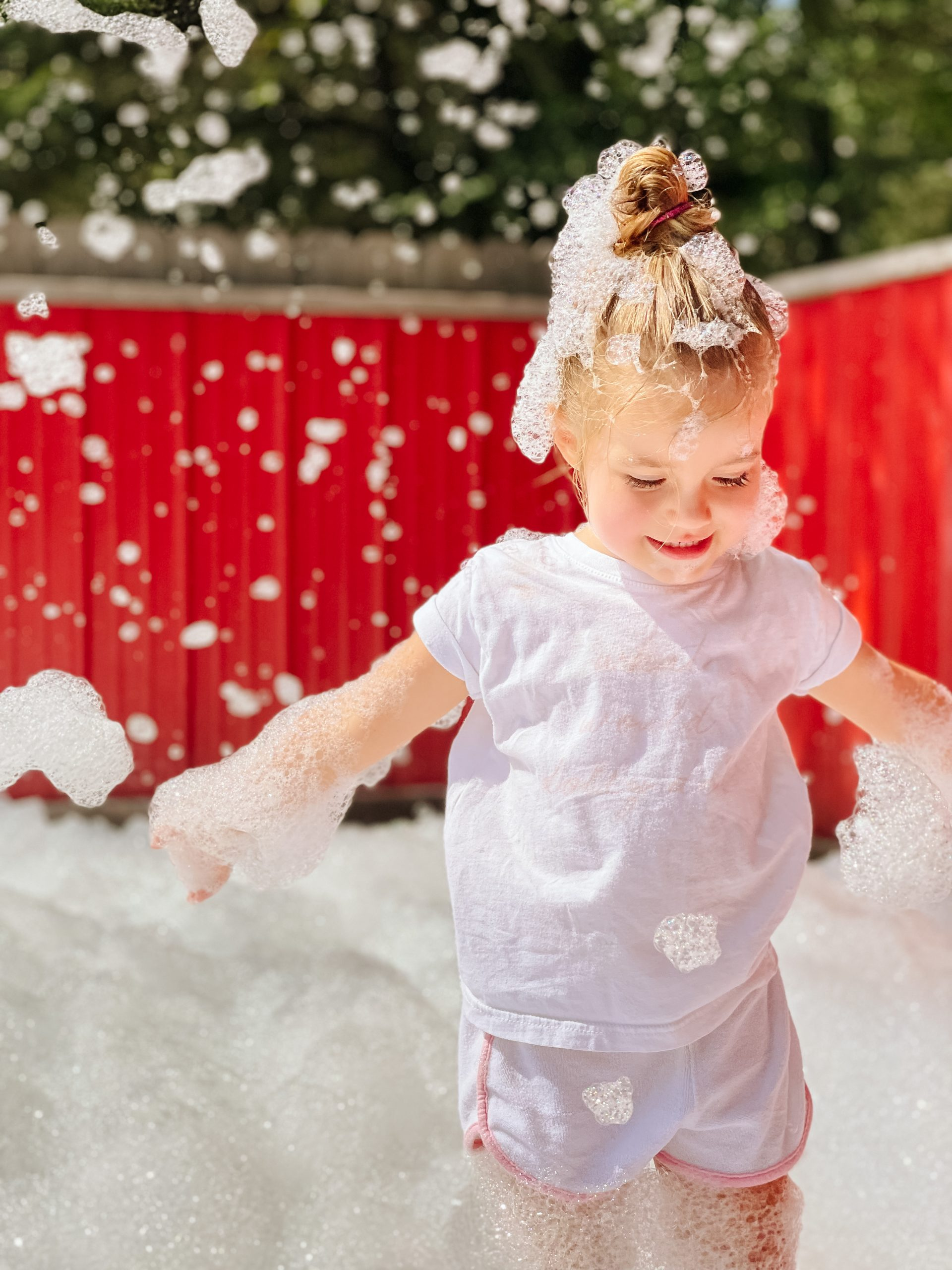 Lucky Ladd Farms bubble pit toddler MacKenlee angela lanter