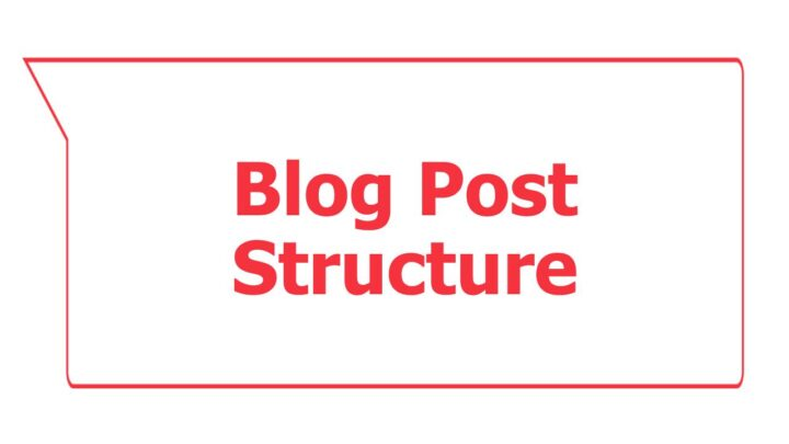 How to Structure a Blog Post in 2021 and on