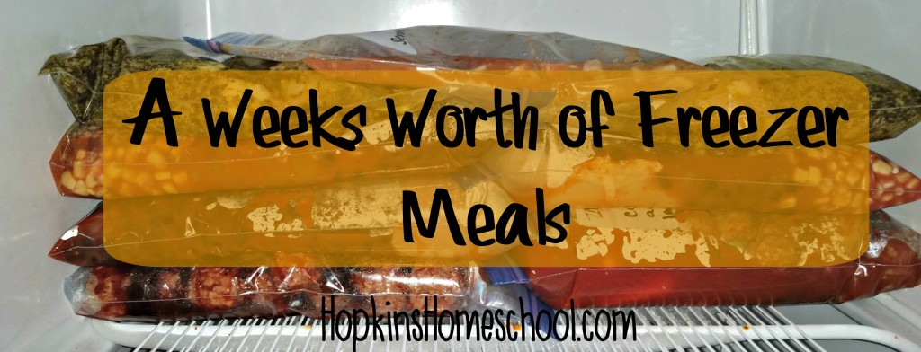 Freezer Meals for a Week