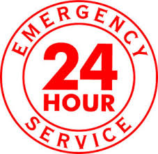 24-hour emergency locksmith badge to indicate our service