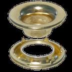 Heavy-Gauge Brass Rolled RimGrommet & Spur Washer