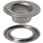 Nickel-Plated Self-Piercing Grommet & Washer