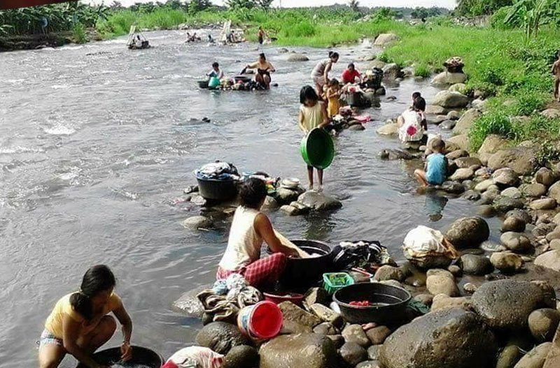 in category of water pollution washing clothes on river bank will pollutes its water with phosphate etc.